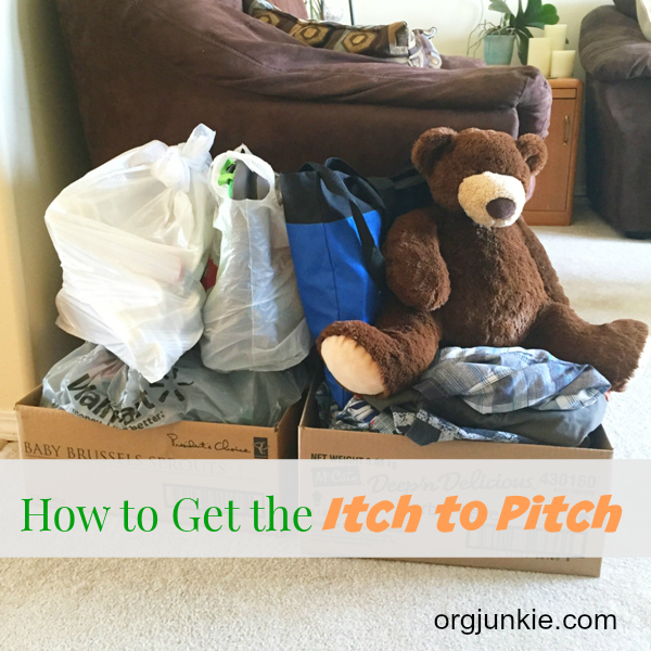 How to Get the Itch to Pitch at I'm an Organizing Junkie blog