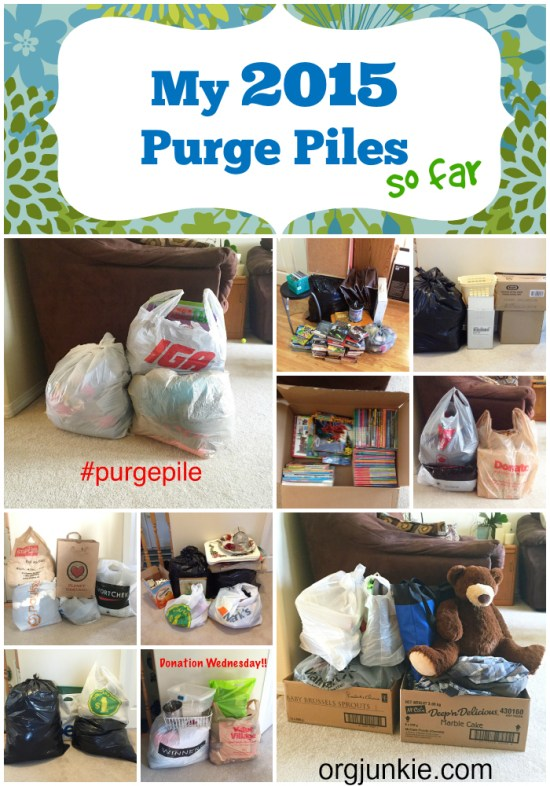 My 2015 Purge Piles
