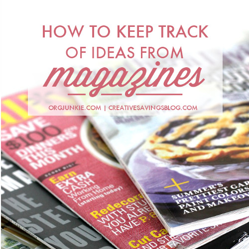 how to keep track of ideas from magazines