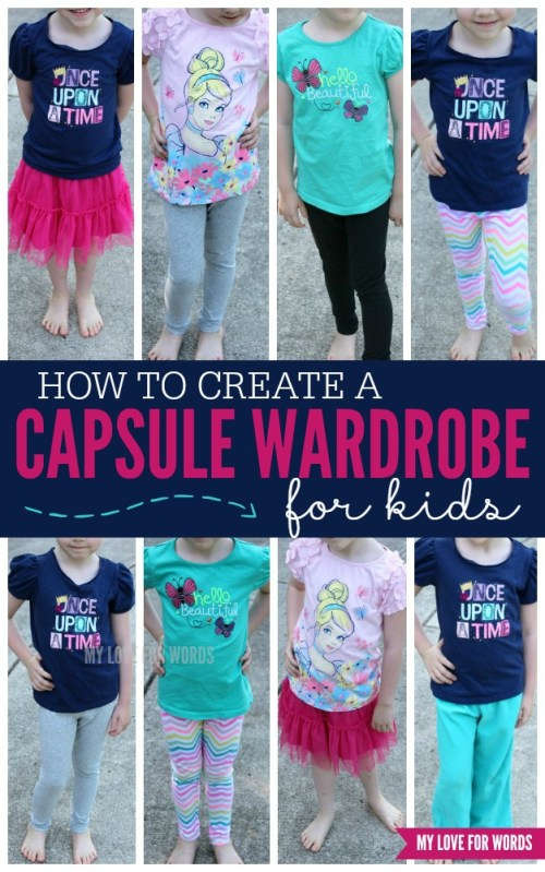 Having trouble keeping your kids' clothes organized?  Find out how to Create a Capsule Wardrobe for Kids at I'm an Organizing Junkie