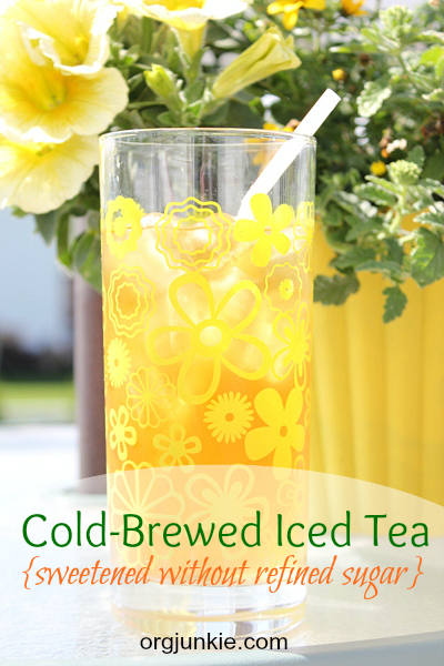 cold-brew iced tea with no sugar