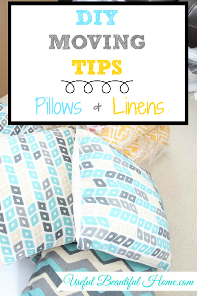 What to do with all those bulky pillows that take up too much space in your moving truck
