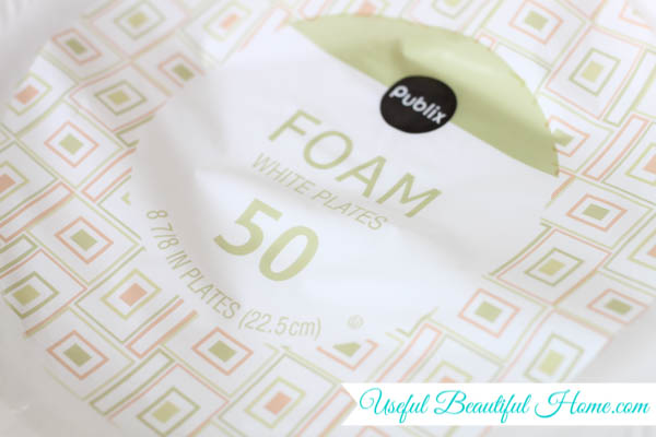Great tip to pack glass plates using foam dividers