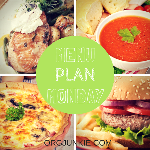 Menu Plan Monday for the week of May 16/16 - recipe links and menu planning inspiration for a less stressful week