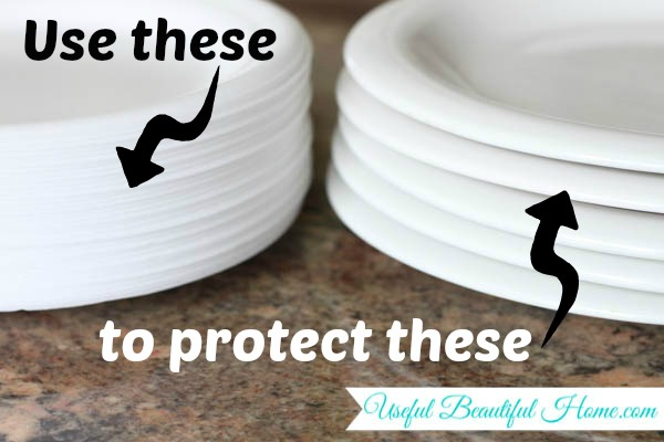 Use these foam plates to protect glass plates during a move