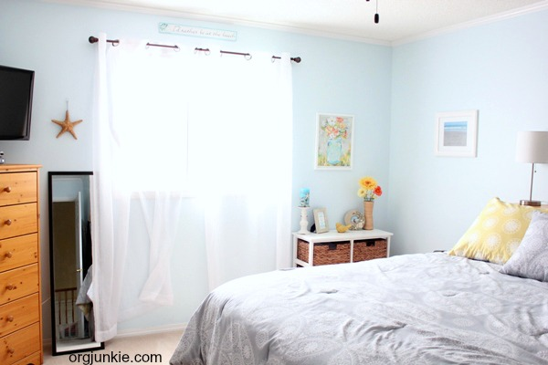 I Painted My Walls A Soft Sky Blue Color And Added Other Beautiful Decor  That Reminds Me Of Where I Am Most Happiest. When I Walk Into My Room, ...