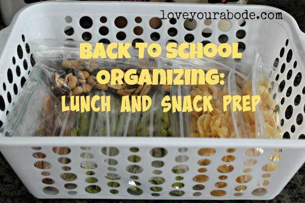 Be organized with back to school with some advance lunch and snack prep