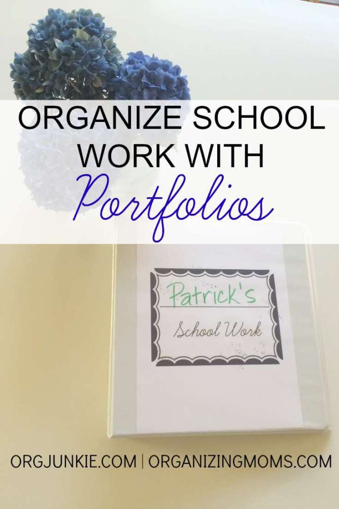Showcase and organize your child's school work using portfolios!!