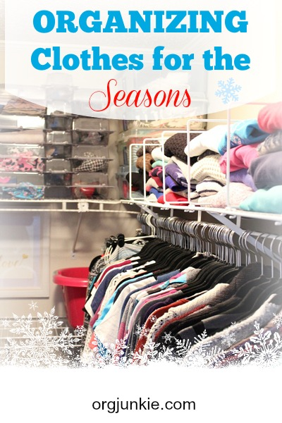 Clothes Organizing for the Seasons