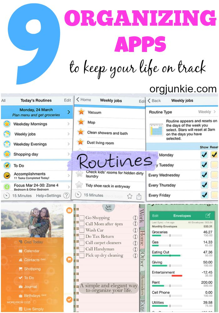 9 favorite organizing apps