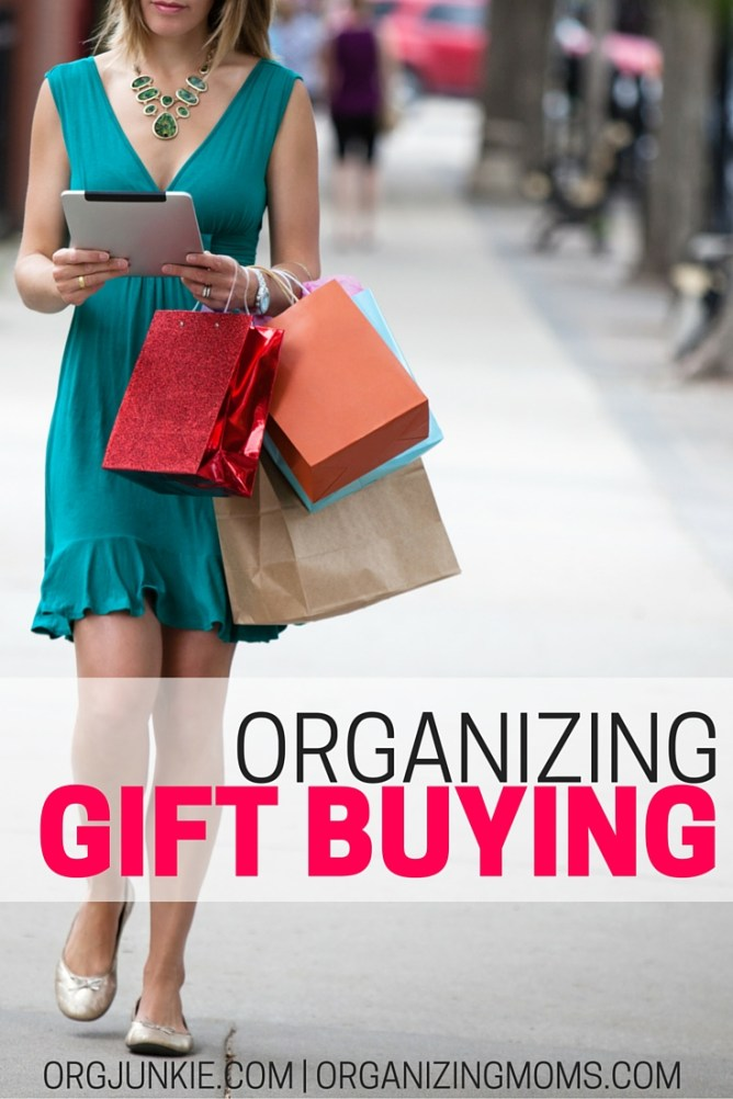 organizing the gift buying process at orgjunkie.com