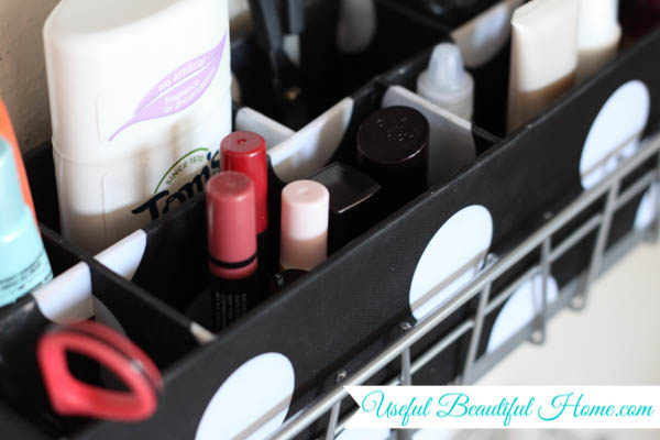 storing small tubes of makeup products