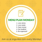 Menu Plan Monday ~ Jan 18/16