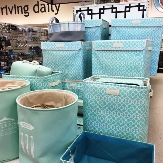Spring is in the air with pretty organizing bins