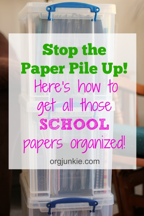 Get Those School Papers Organized the Easy Way at I'm an Organizing Junkie blog