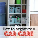 Organizing a Car Care Center + Giveaway!