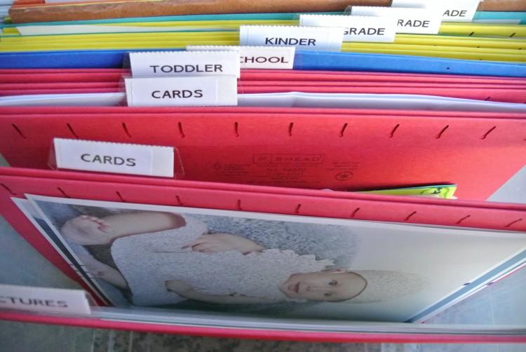 Organizing Kids Stuff with a file box
