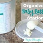 Organized Baby Bottle Station