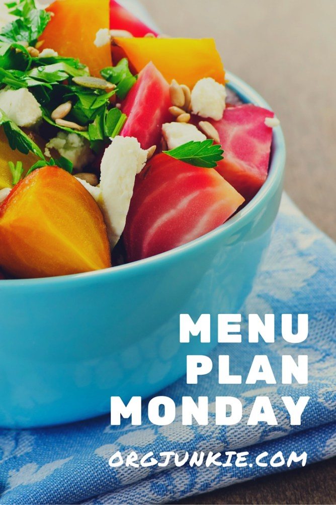 Menu Plan Monday for the week of Aug 1/16 - recipe links and menu planning inspiration at I'm an Organizing Junkie