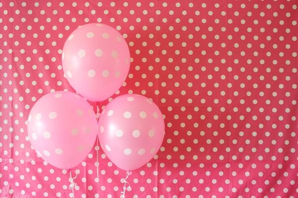 polka dot party balloons
