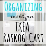Bathroom Organizing with an Ikea RASKOG Cart