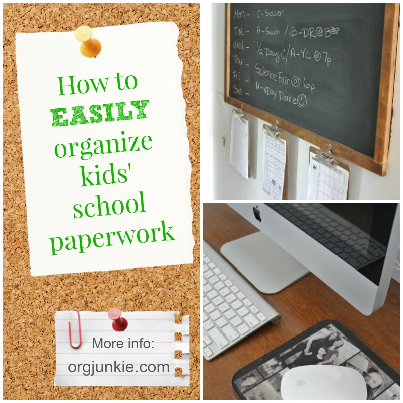 How To Easily Organize Kids School Paperwork Today