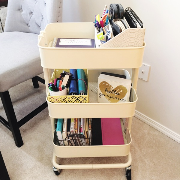 Mobile Office Ikea Raskog Cart at I'm an Organizing Junkie - it simplified my life!