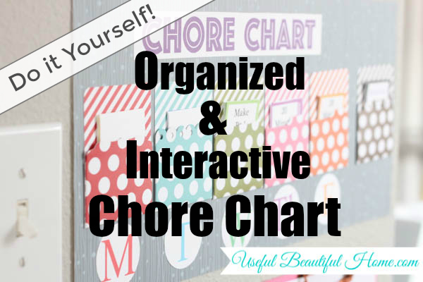 Do It Yourself Organized and Interactive Chort Chart at I'm an Organizing Junkie blog
