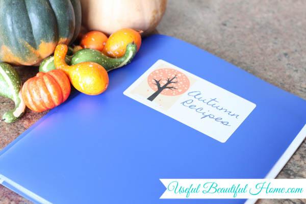 rotation menu folder for seasonal meal planning