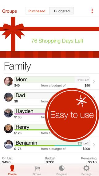 Christmas gift list app