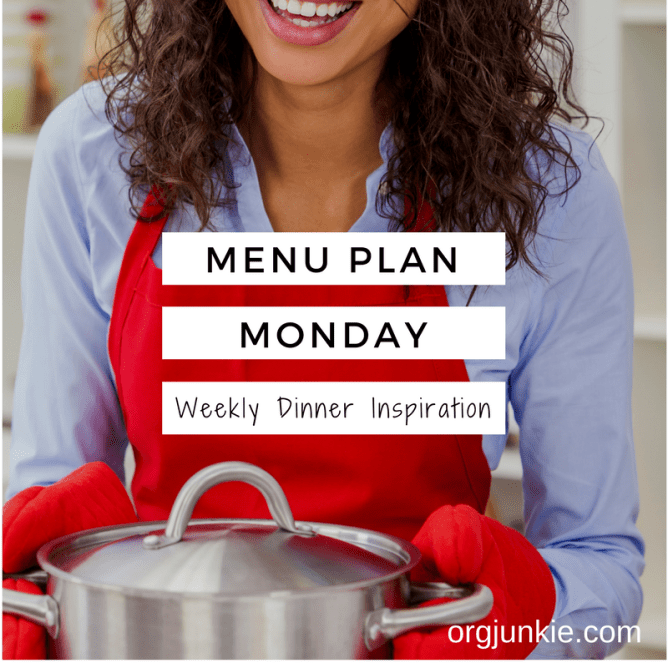 Menu Plan Monday - weekly dinner inspiration for the week of April 3/17 at I'm an Organizing Junkie blog
