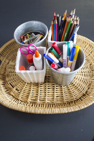 organizing with trays