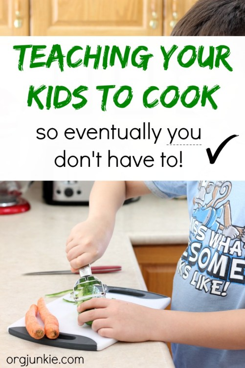 Teaching your kids to cook so eventually you don't have to