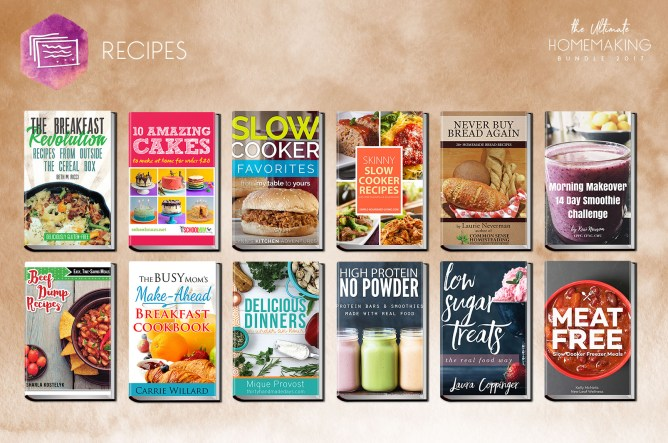 recipes included in the Ultimate Homemaking Bundle to help you menu plan