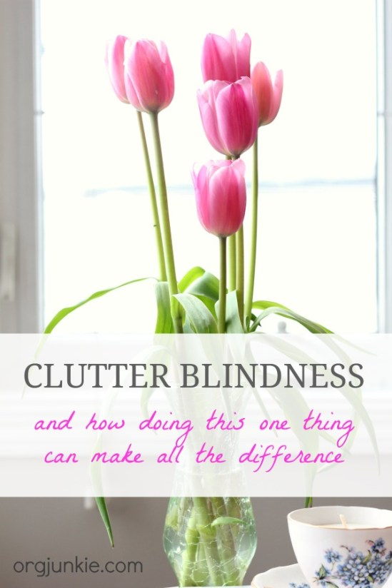 Clutter Blindness and how doing this one thing can make all the difference to help you get organized