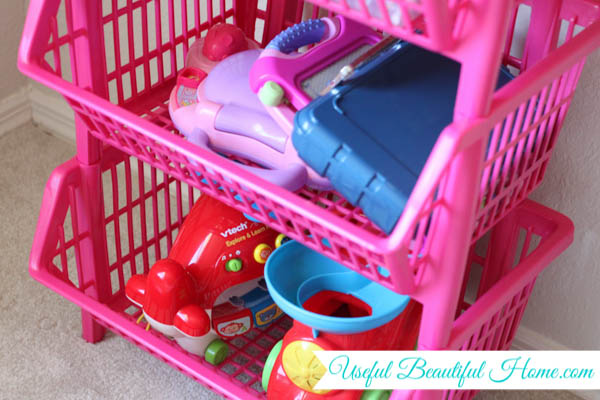 An organized playroom for various ages to help you get it all under control
