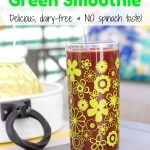 Dairy-Free & Delicious Cherry Pineapple Green Smoothie