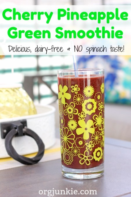 Cherry Pineapple Green Smoothie