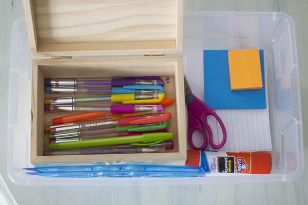 Organized Kids Craft Supplies - 4 different ways to do it at I'm an Organizing Junkie blog