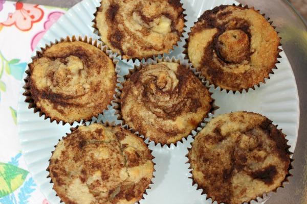 Paleo Cinnamon Bun Banana Muffins