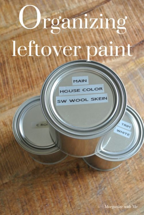 How to Organize Leftover Paint at I'm an Organizing Junkie blog