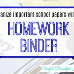 Using a Homework Binder to Save Mom's Sanity
