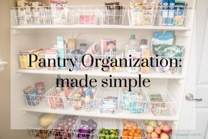 Pantry Organization Made Simple with 3 Steps at I'm an Organizing Junkie blog