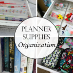 Planner Supplies Organization Ideas
