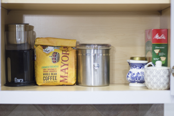 5 Tips for an Organized Tea and Coffee Station at Im an Organizing Junkie blog