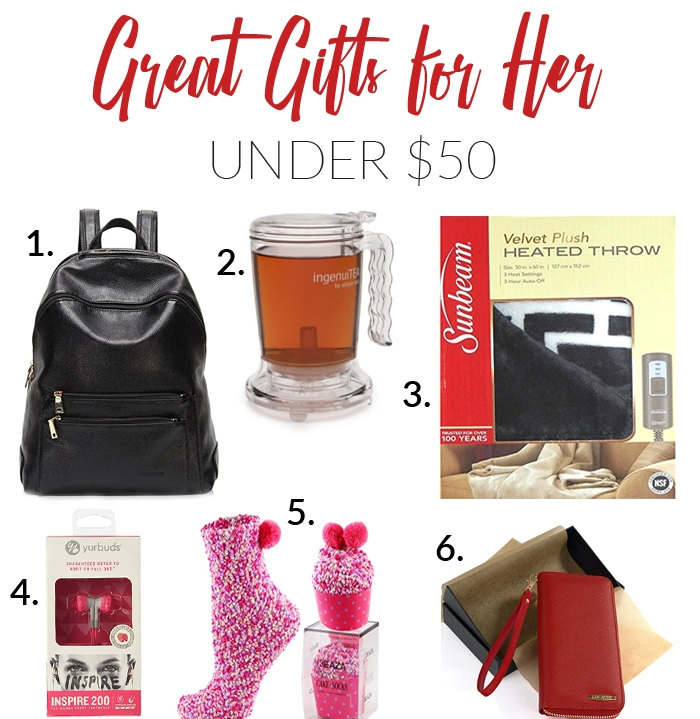 Great Gifts for Her Under $50