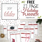 2017 FREE Holiday Planner – 27 Printables for the Most Organized Christmas Yet!