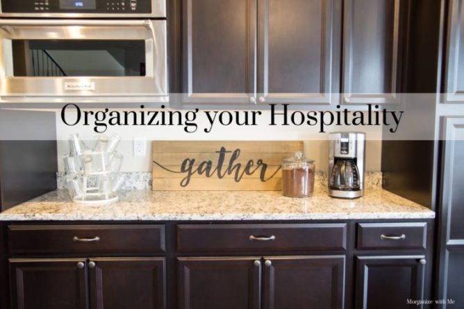 Organizing Your Hospitality for the Holidays at I'm an Organizing Junkie blog