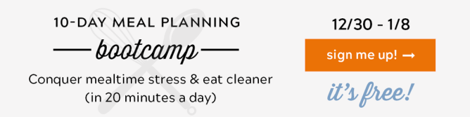 Meal Planning Bootcamp - A Free 10 Day Challenge! - because getting dinner on the table does not have to be stressful or chaotic in your home