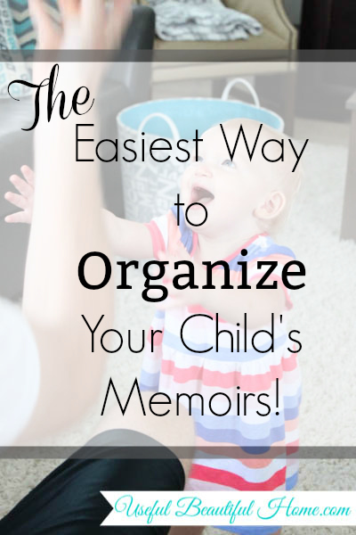 Qeepsake: The Easiest Way to Organize Your Child's Memoirs at I'm an Organizing Junkie blog